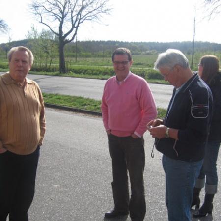 Dieter Schümann, Bürgermeister Karsten Jasper, Wilfried Hildebrandt und Gaby Coltzau